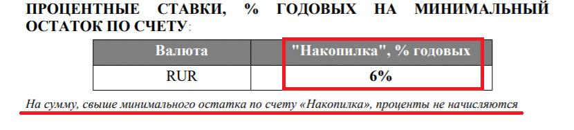 Проценты по счёту Накопилка