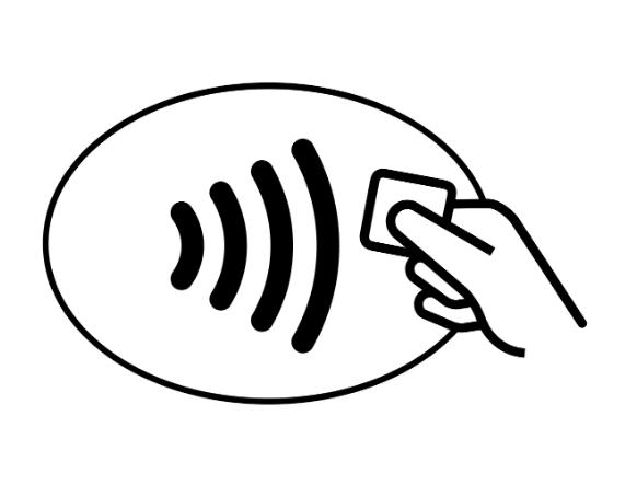 Возможность бесконтактной оплаты — символ Wi-Fi