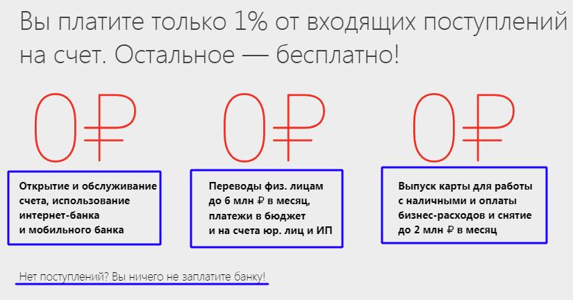Тариф Просто 1% от Альфа-Банка